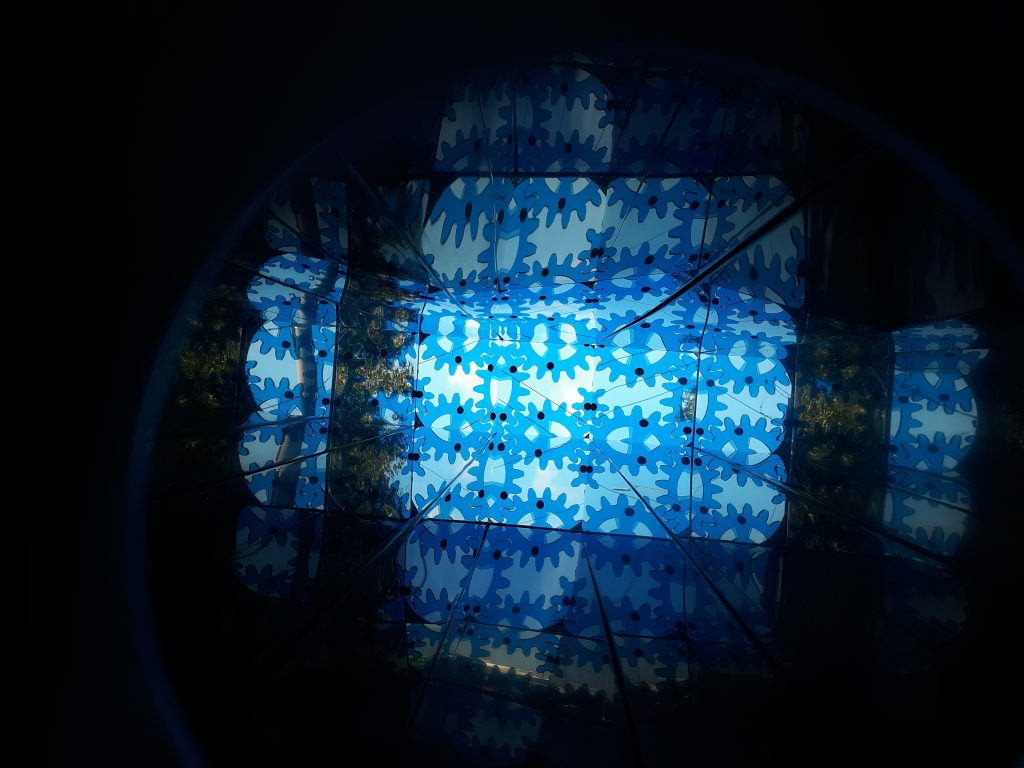 Eric Nubbe, Kaleidoscope, detail of view through the scope.