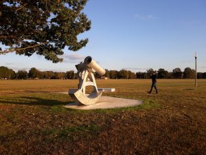 Eric Nubbe, Kaleidoscope, installed in Snow Hinton Park, Tuscaloosa. Nov. 2108.