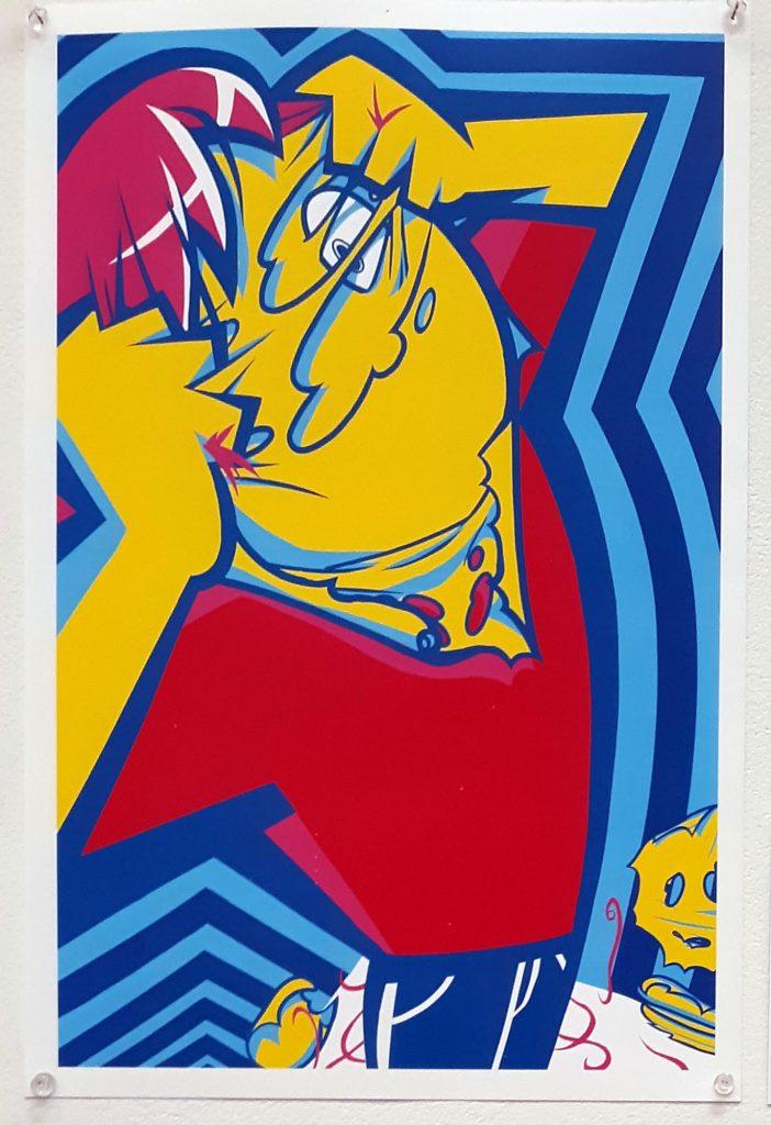 Digital print by Charlie Cruz in the Advanced Scholarship Exhibition, 2019.