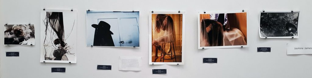 Gelatin print photographs by Jasmine James in the Advanced Scholarship Exhibition, 2019.