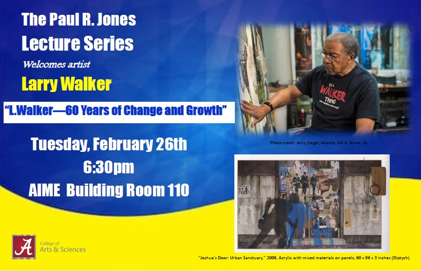 Larry Walker, artist, Paul R. Jones Lecture Series