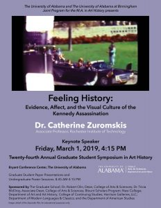 Poster for the 24th Annual Graduate Symposium in Art History at UA.