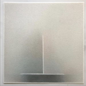 "Pete Schulte, ""Untitled (Year's End),"" 10 x 10 inches, graphite, pigment on paper."