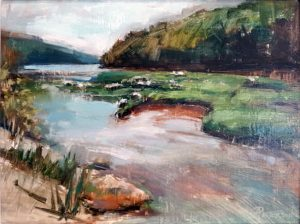 Amy Peterson, Cahaba Verdure, oil, 12 x 16, Plein Air Artists