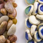 """Patrick Hoban, """"Placeholder"""" (detail), ceramic and found rocks, 4' x 9' x 2"""". Image courtesy of the artist."""