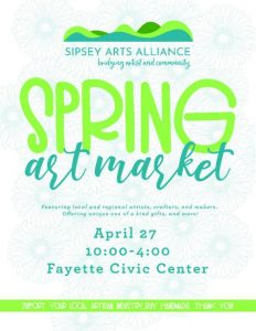 Sipsey Arts Alliance Spring Art Mkt Apr 27, 2019