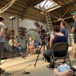 "Black Belt Artist Project members visit Charlie ""Tin Man"" Lucas in Selma, Alabama."