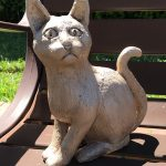 Alyson Smith's bronze sculpture of a cat commemorates poet and journalist Riley Kelly in Monroeville's Literary Capital Sculpture Trail.