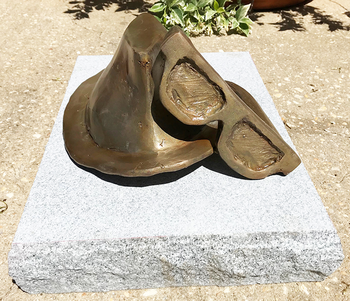 Morgan Harrison's bronze sculpture of a hat and glasses commemorates author Truman Capote in the Monroeville Literary Capital Sculpture Trail.