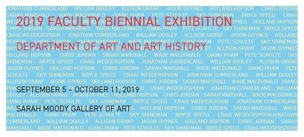 SMGA Faculty Biennial Exhibition, 2019