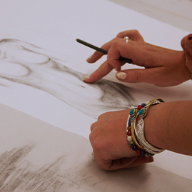 a student drawing