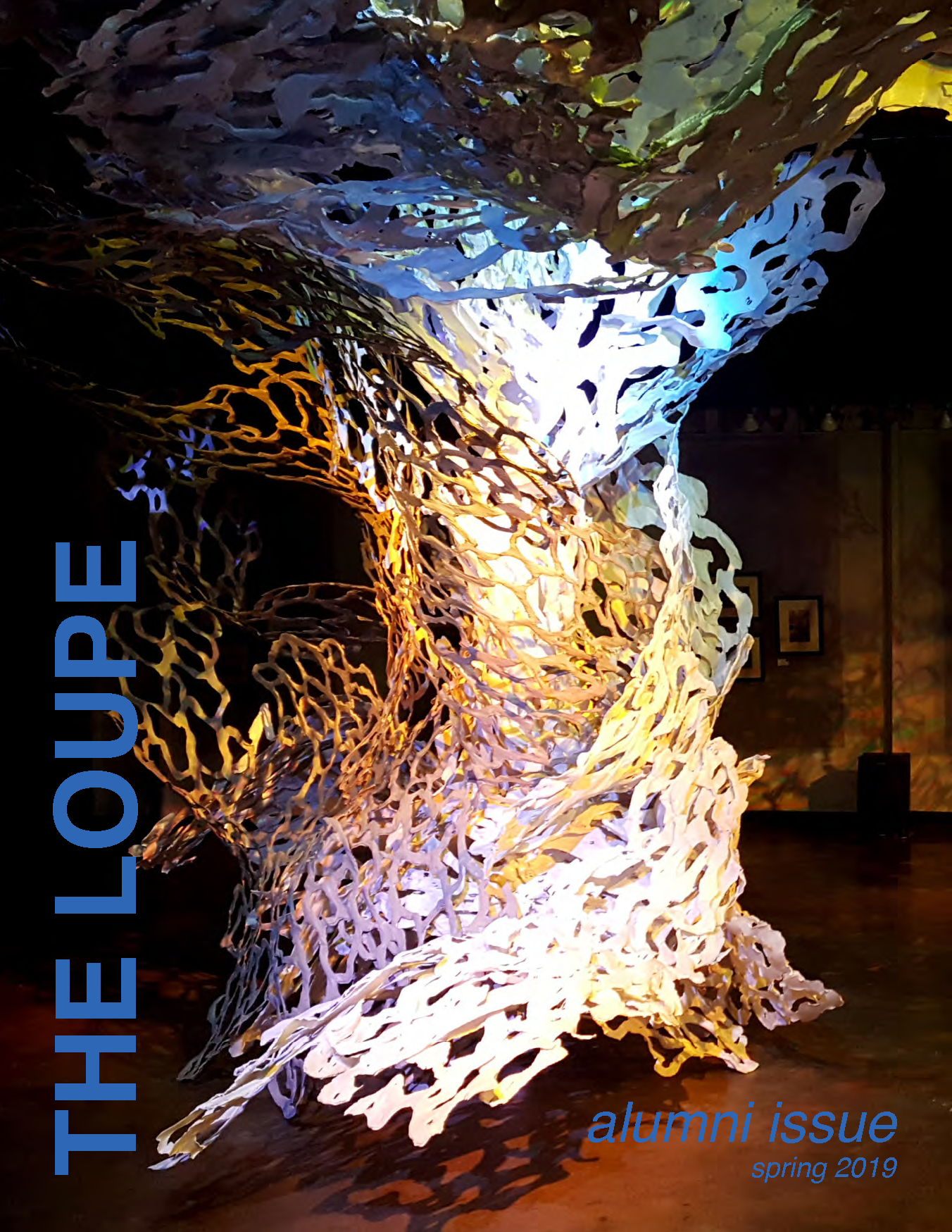the front cover of the spring 2019 issues of the Loupe