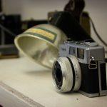 close up on a camera