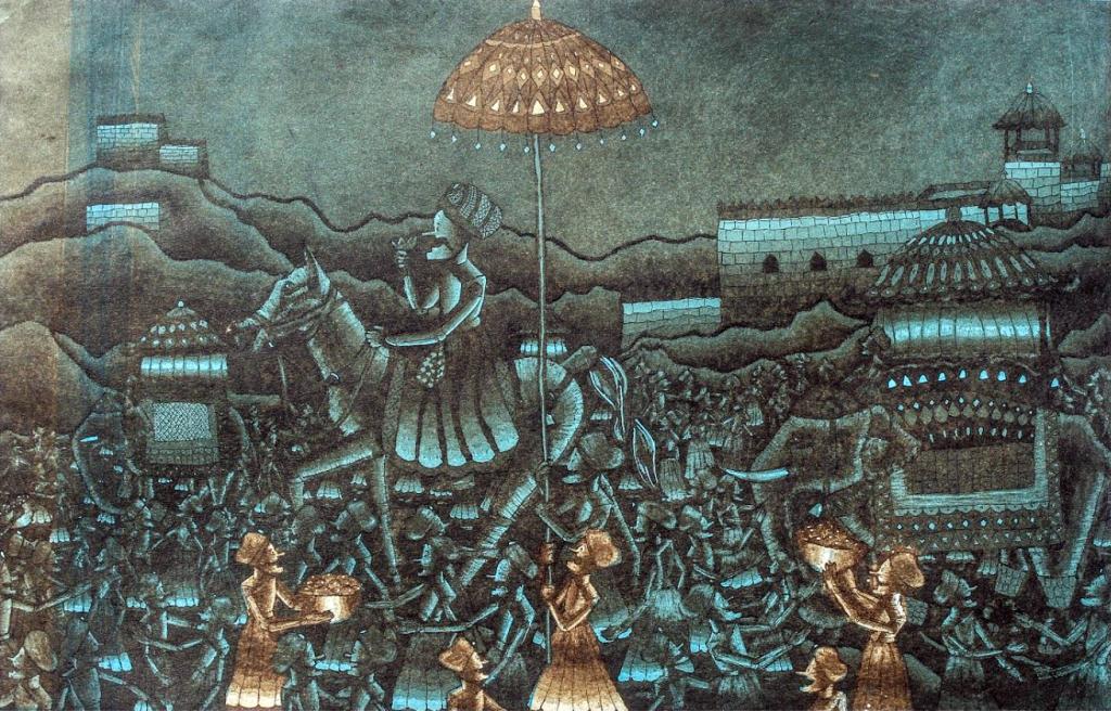 Aquatint print by Upneet Kaur Mair