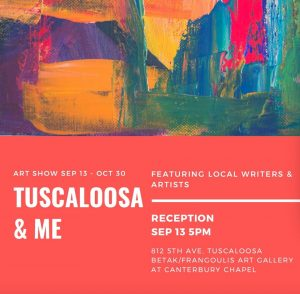 Poster for Tuscaloosa & Me, Painters and Poets exhibition