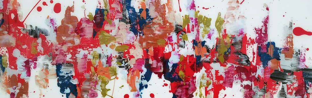 Detail of an abstract painting.