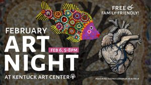 Decorative poster for Art Night at Kentuck