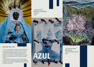 Brochure with artists' work for exhibition Azul/Blue.