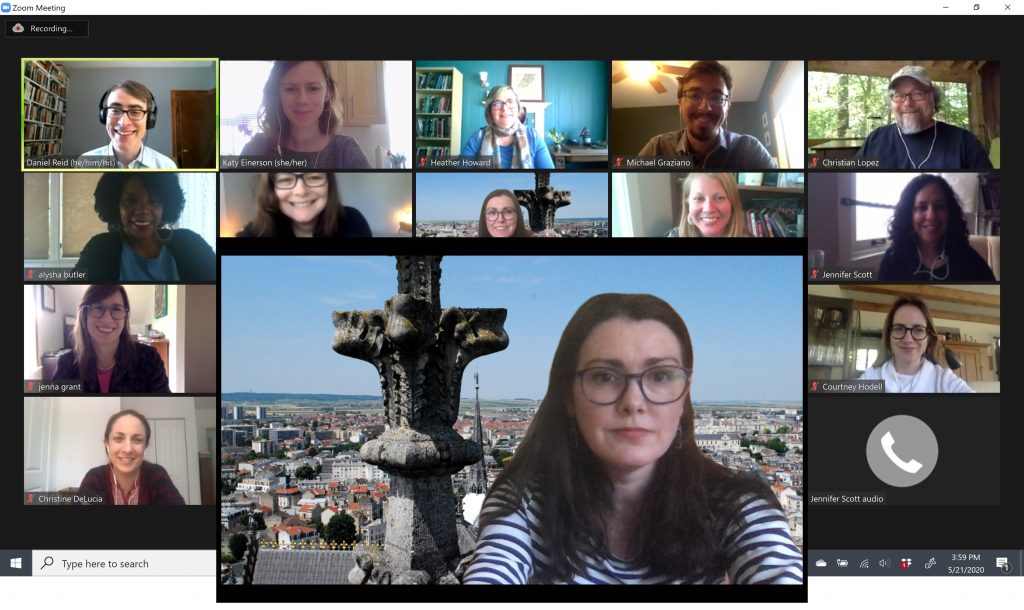 Screenshots of a Zoom meeting