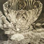 """Charlotte Wegrzynowski, """"Salt,"""" 2020, charcoal, 24 x 32 inches"""