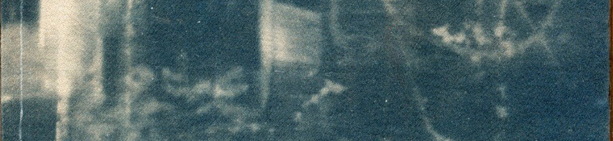 """Kole Nichols, """"Home,"""" 2020, cyanotype on fabric"""