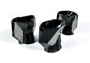 Wade MacDonald, Black-Dotted Fracture Cups.