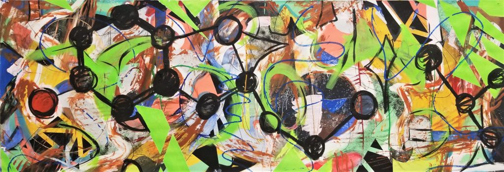 Abstract painting by Ashlee Rene Thompson
