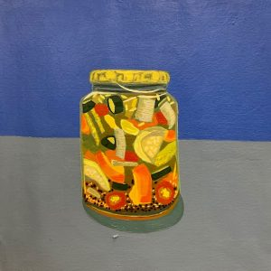 painting of a jar of pickles
