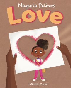 """Picture book cover """"Magenta Delivers Love"""""""