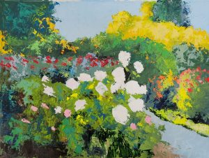 painting of garden flowers