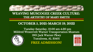 """poster for """"The Artistry of Mary Smith"""" exhibition."""